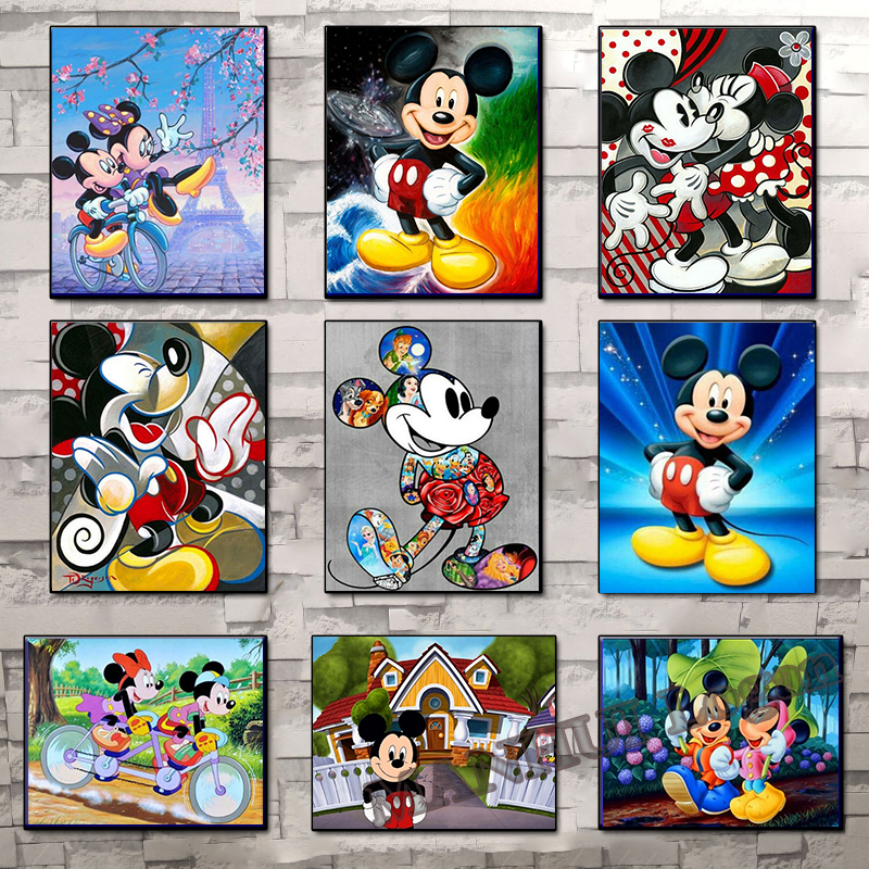 100% Full Round 5D Diy Diamond Painting full square Cartoon Mickey Mouse Diamond Inlay Diamond Embroidery Home Decoration SSC226 title=