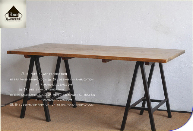 american country wrought iron vintage desk. loft american country wrought iron table to do the old wood vintage desk computer o