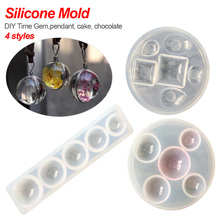 Characteristic Silicone Mold half ball pendant crystal UV Resin handmade tool epoxy resin molds jewelry making