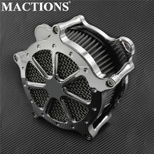 Motorcycle All Chrome Air Cleaner Air Filter System For Harley XL Sportster 04 19 Touring Road Glide 08 16 Dyna Softail Fat Boy