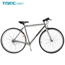 TDJDC RT-240 High Quality 700C Road Bike, No-chain Drive Shaft Bicycle, 3-Speed Retro Bike