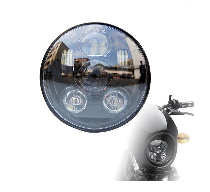 Promotion!1 Piece 5.75 Inch Motorcycle Projector DRL LED Lamp Bulb HI/LO Beam Headlight For Harley 1pcs 5 75 inch led motorcycle projector daymakers 5 75 inch headlight for harleys dyan h4 hi lo beam lights lamp bulb angle eye