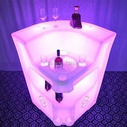 16 Farben Ändern Wiederaufladbare fernbedienung PE LED leuchtet kaffee cocktail bar tische zähler BAR Lumineux KRUG ECKE