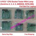 Полный Набор 6 CPU Тестеры С Лампой для Ноутбуков (Centrino 2, 3, 4, 5, AMD638, INTEL988/989), Розничная и Оптовая торговля