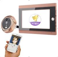 7 Polegada WI-FI Interfone Telefone Video Da Porta Campainha 165 Graus 10000 mah Da Bateria