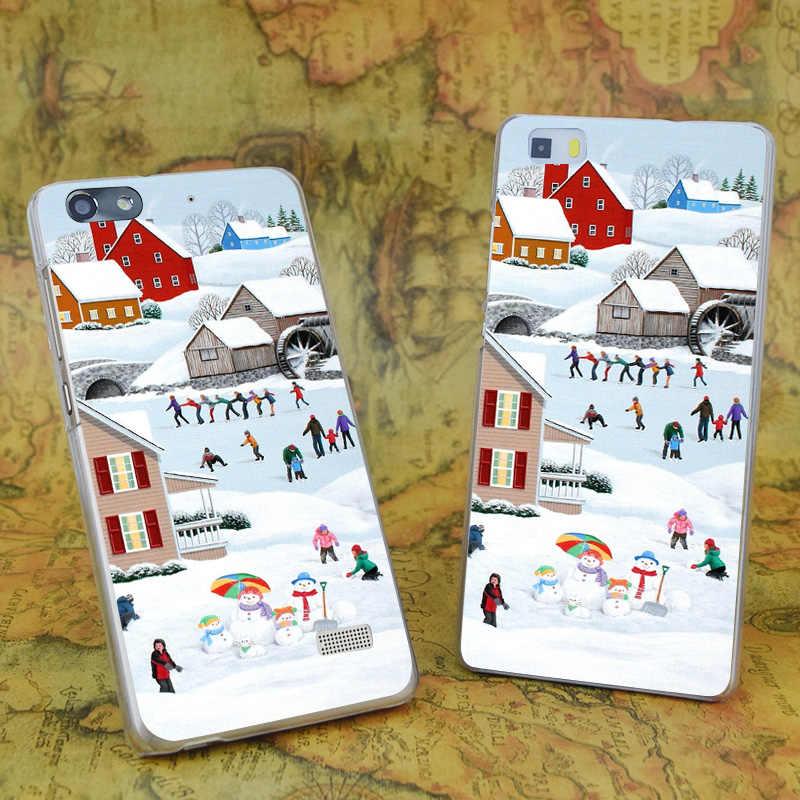 E0625 ذات مرة الشتاء شفافة الصلب رقيقة جراب هاتف جلد لهواوي P 6 7 8 9 لايت زائد الشرف 6 7 4C 4X G7