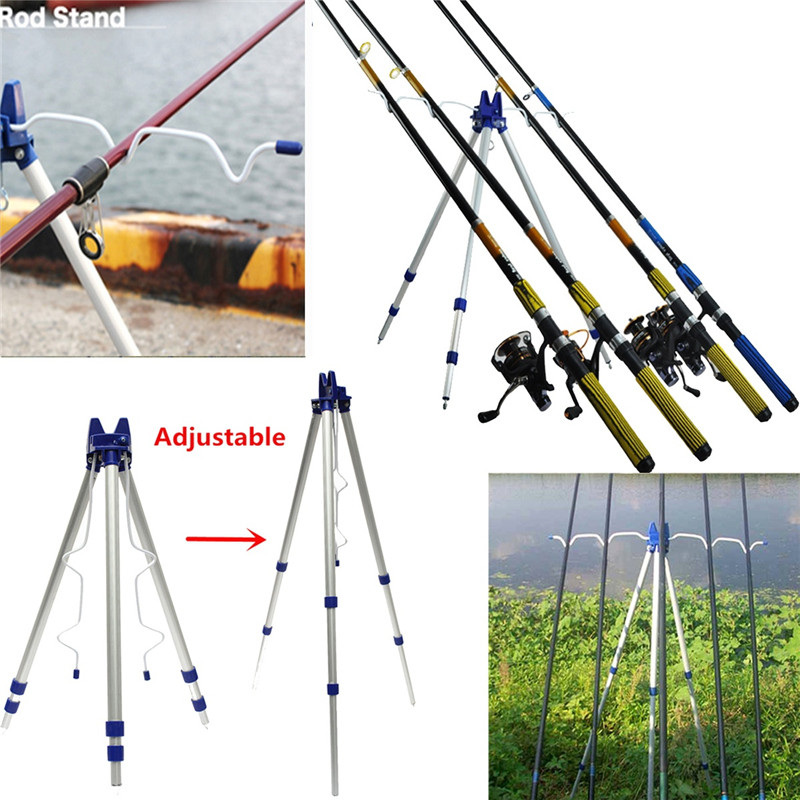 Bobing Large Size Fishing Rod Holder Adjustable Rod Pole Rests Bracket Tripod Stand Support 5 Rods Fish Tackle 3 Legs Rod Holder new practical adjustable fishing rod pole holder bracket fishing rack tool accessory support