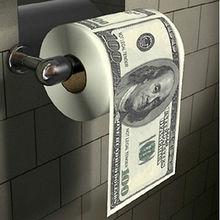 США Деньги мягкая туалетная бумага полотенце банный рулон ткани Ванная комната деньги Туалет Рулон Чистящая одежда