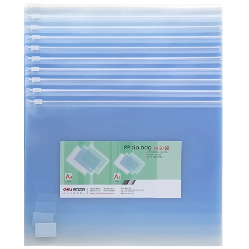 10pcs/lot A5 Document Bag Statioenry Electricity Waterproof Light Color Presentation Folder For School Supplies File Folder