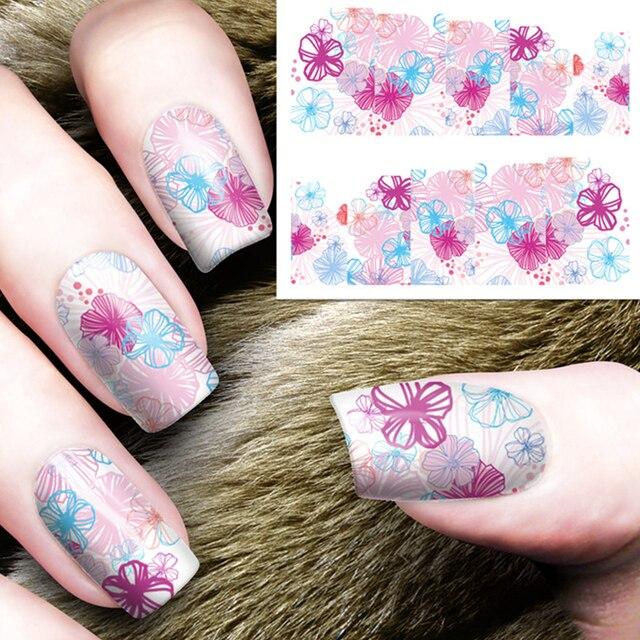 Cute Daisy Water Stickers Transfer Nail Art Wraps Beauty Flowers