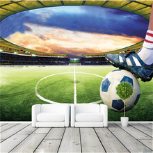 Wholesale 3d papel de parede waterproof murals wallpaper football mural for living room 3d wall mural soccer photo mural beibehang wholesale boat jack sparrow mural pirate 3d cartoon mural wallpaper for baby children kids room 3d wall murals fresco