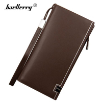 Baellerry Leather Wallet Men Credit Cards Holders Men Wallets With Coin Pocket Zipper Male Famous Brand