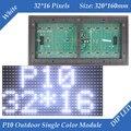 Módulo de display LED P10 Ao Ar Livre cor Branca 320*160mm 32*16 pixels à prova d' água de alto brilho para rolagem mensagem de texto sinal levou