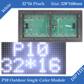 P10 Открытый Белый цвет СВЕТОДИОДНЫЙ дисплей модуль 320*160 мм 32*16 пикселей водонепроницаемый высокой яркости для прокрутки текстовое сообщение светодиодная вывеска