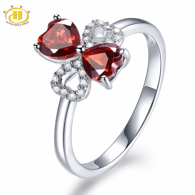 Fine Jewelry Womens Red Garnet Sterling Silver Solitaire Ring ER1bRcA
