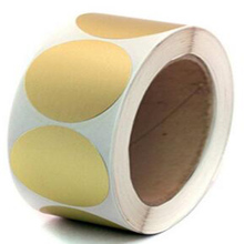 Wootile 2 paper copper Metallic Gold Color-code Dot Sticker Labels | Permanent Adhesive, Write on Surface - 500/roll