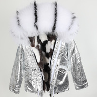 Fox Fur Parkas Mujer 2018 New Winter Women's Parkas Colorful Collar Real Fur Hooded Jackets Fur Liner Thicken Coats for Women