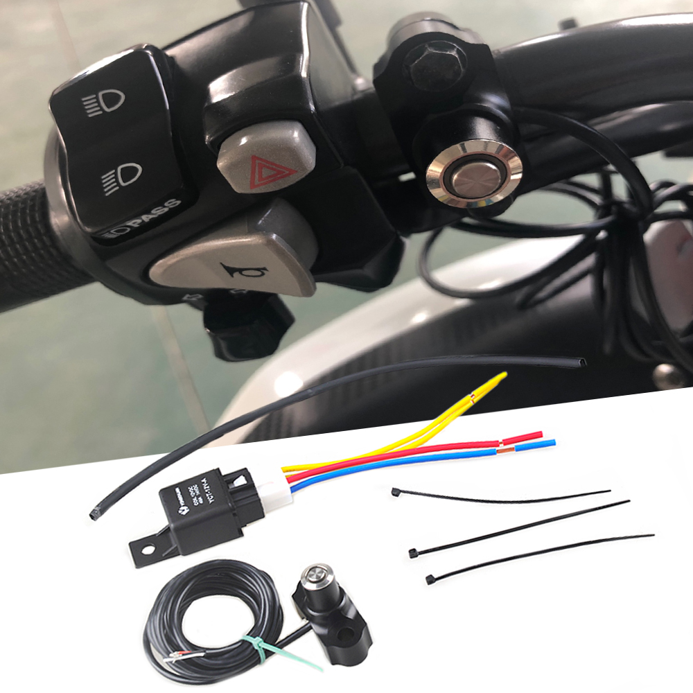 Universal motorcycle turn signal auxiliary <font><b>light</b></font> switch button relay FOR <font><b>HONDA</b></font> <font><b>NC750X</b></font> cbr650f CB650F CB500X CTX750 CBR300 500 image