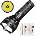 LUMINTOP  Brightest Rechargeable Waterproof Searching Flashlight 18650Battery  SD75  4000 Lumens with Cree XHP70 LED