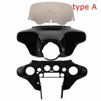 Motorcycle Batwing Inner Outer Fairing Smoke Windscreen Windshield For Harley Touring Road King Street Electra Glide FLH 96 13
