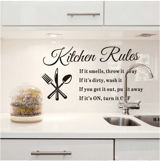 Aliexpress.com : Buy DIY Wall Stickers Kitchen Rules Decal