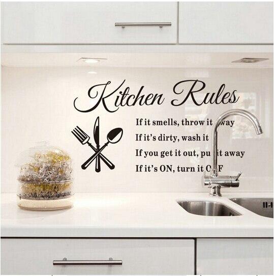Kitchen Wall Accessories popular kitchen rules wall art-buy cheap kitchen rules wall art