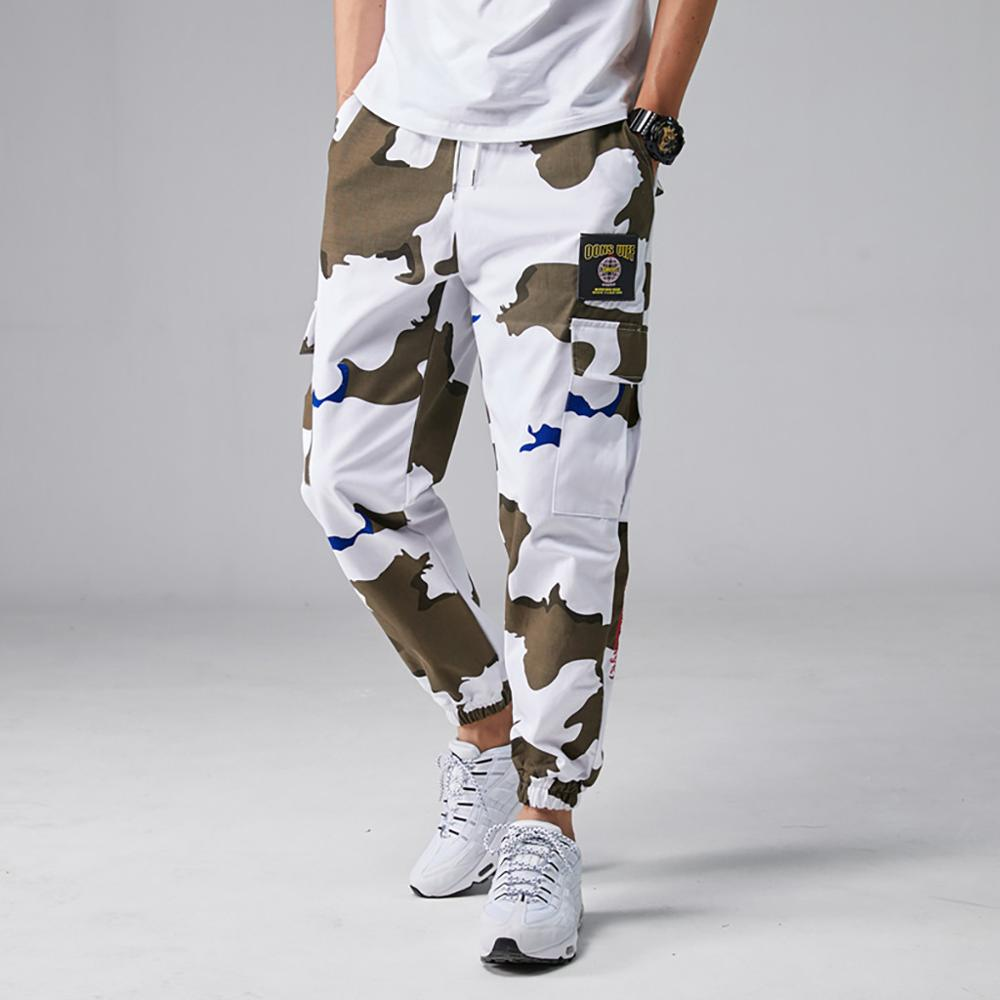 Men's Summer Camouflage Casual Tooling Multi-Pocket Fashion Comfortable Trouser Casual Male Solid Loose cargo pants Jogger(China)