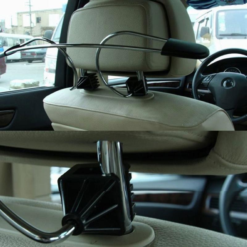 Universel en acier inoxydable voiture manteau cintre Auto siège appuie-tête vêtements costumes support crochet accessoires voiture style Auto fournitures