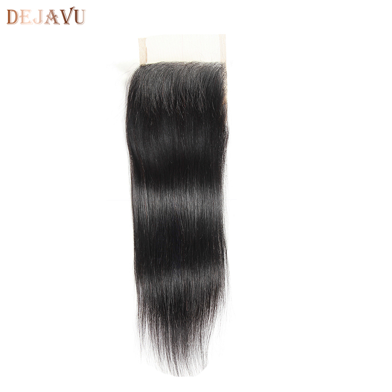 4x4 Brazilian Straight Hair Lace Frontal Closure Swiss Lace 100% Human Remy Human Hair Closure Free Shipping Free/Middle Part ...