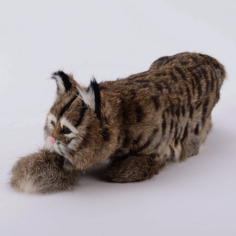 big creative simulation catching mouse cat lifelike handicraft dark colour cat doll gift about 42x14x13cm цены онлайн