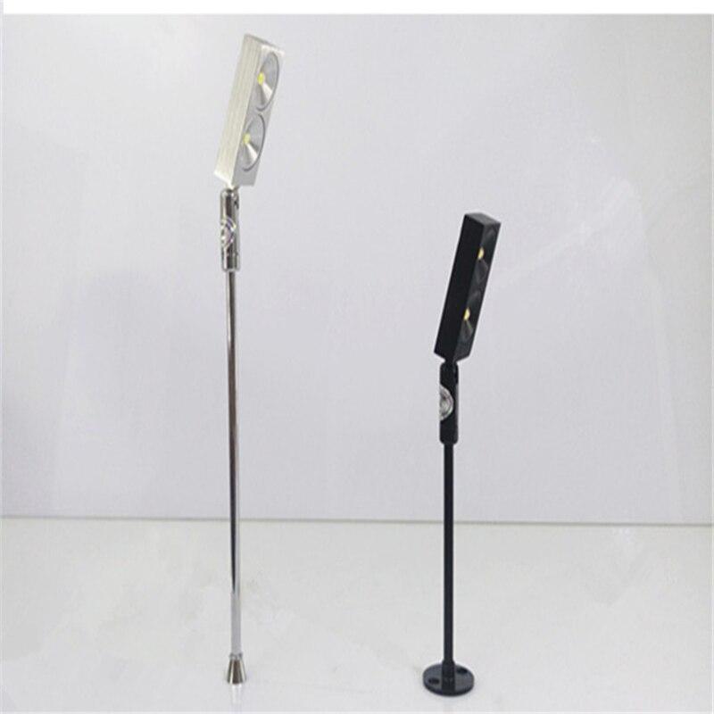 2W ledová skříňová svítilna, 85-265Vac led stud, lampa pro perly a drahokamy, zlatá lampa