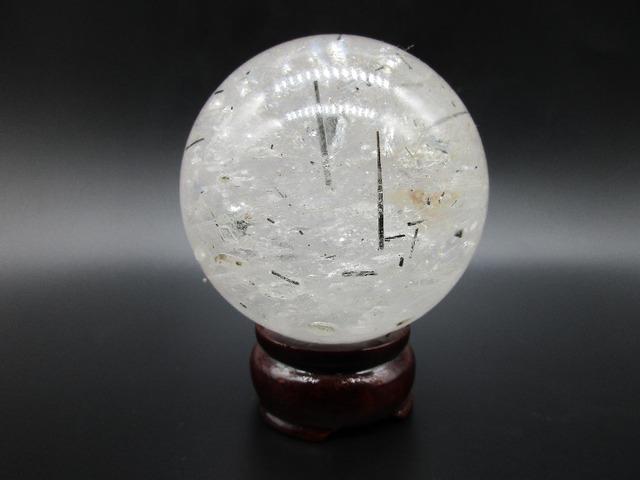72mm R Natural White Crystal Ball Clear Quartz BLACK Quartz Rutilated Round Magic Ball Healing Reiki Decoration