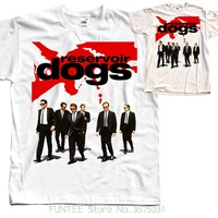 Adult T Shirt S 2xl Reservoir Dogs V1 Movie Poster T Shirt Natural White All Sizes