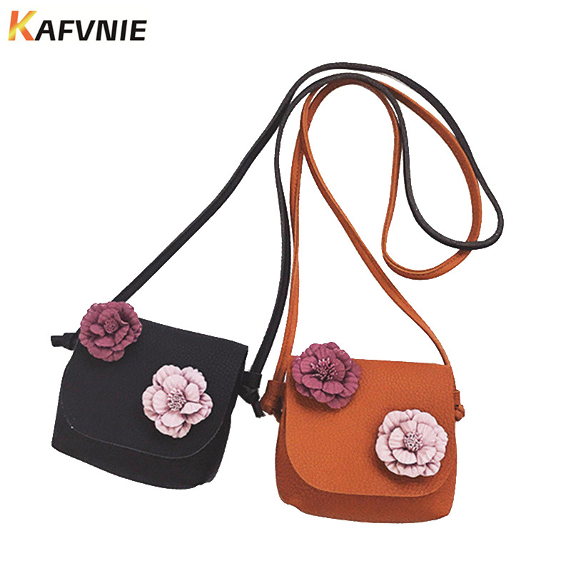 New Cute Mini Bag Children Handbag For Women Cartoon Flower Tassel PU Waterproof Should Bag Kids Girls Fashion Messenger Bags new cute kids tote girls shoulder bag mini bag bowknot handbag designer pu children baby tassel messenger bag women bag