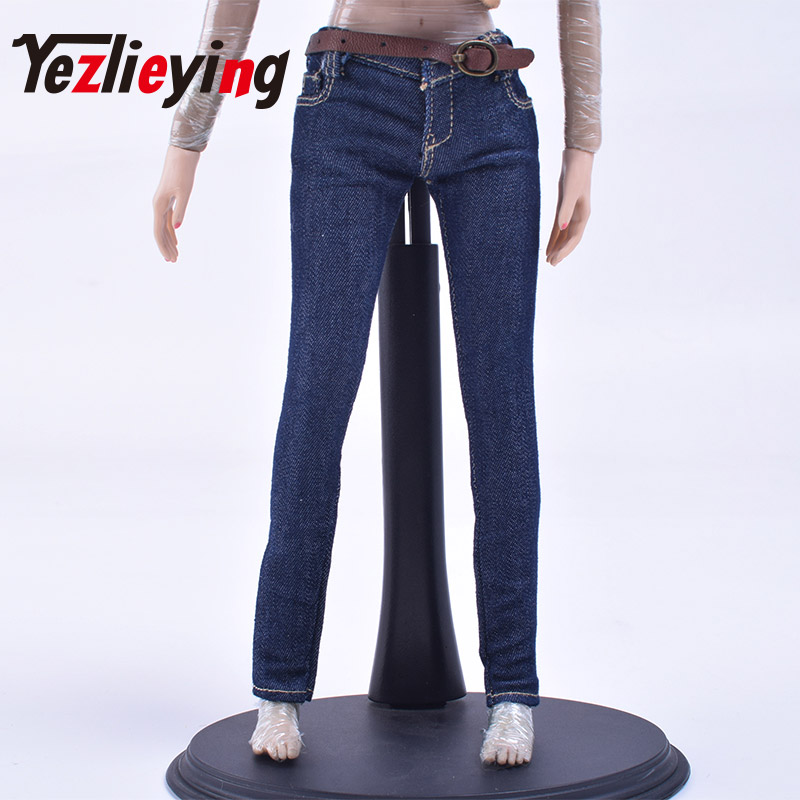 """Women's Skinny Jeans 1/6 Scale Clothes Accessories 12 """"Phicen Collectible Action Figure Doll DIY Body Action Figure"""