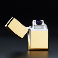 Fashion Double Fire Cross Twin Arc Pulse Electronic Cigarette Lighter Electric Arc Charge Usb Lighters Smoker