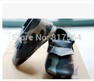 Натуральная Кожа Детские Мокасины золото Камуфляж асфальт fringe мягкий Детская Обувь с лук Первый Ходок Chaussure Bebe новорожденные обувь