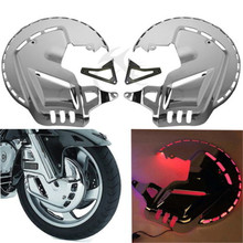 все цены на Motorcycle Red led Ring of Fire Brake Disc Rotor Covers For Honda Goldwing GL1800 2001-2014 онлайн