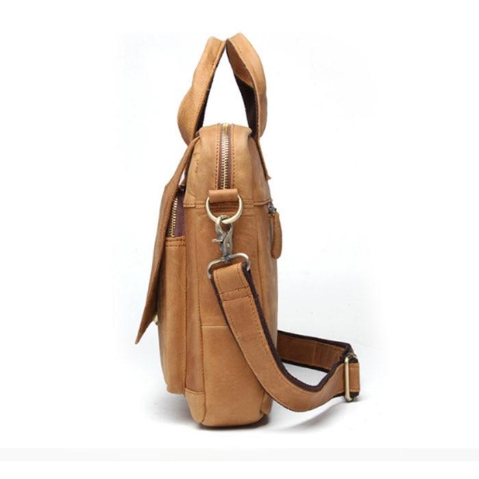 Studenten Echtes Reisen Lässig Messenger Schulter Schule Khaki Männer Taschen Crossbody Handtaschen Leder Für Aus Kuh w1I5xq4F