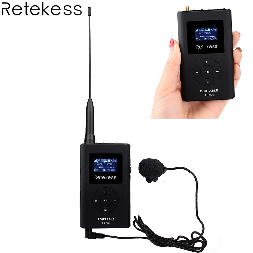 Nouvelle TR504 0.6 W FM Sans Fil Émetteur MP3 Émetteur Radio Diffusion pour Voiture Réunion Tour Guide Système