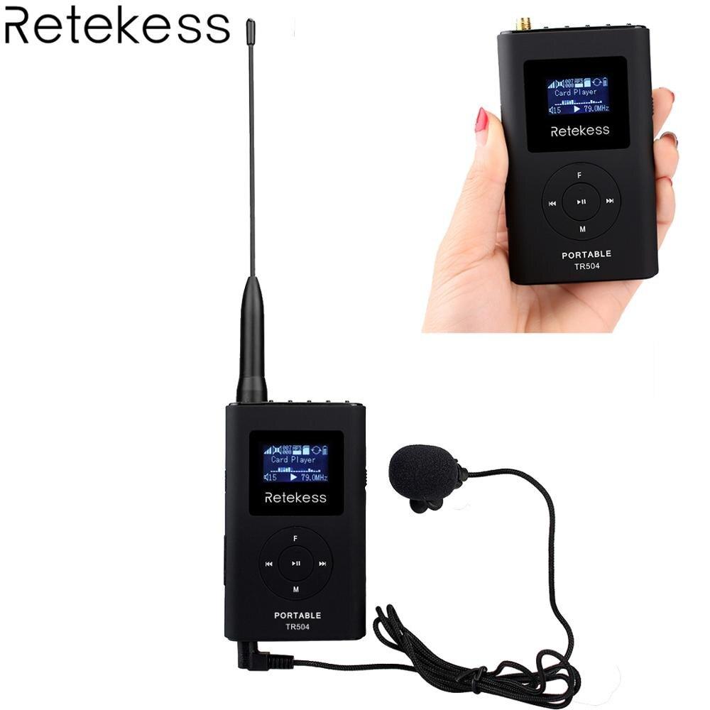 Reticência TR504 0.6 W Reunião MP3 Transmissão Rádio Transmissor FM Transmissor Sem Fio para o Carro Sistema de Guia Turístico