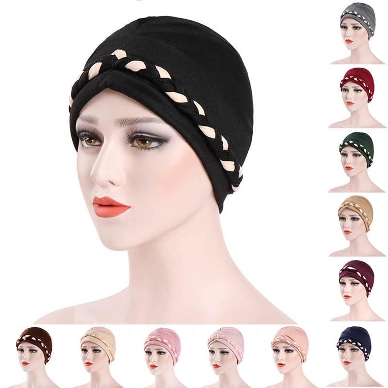 Detail Feedback Questions about Muslim Women s Hijab Caps Hat Lady Girl  Headwear Underscarf Braid Cotton Adjustable Scarf MX8 on Aliexpress.com  76847b2dd8f
