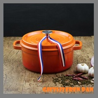 cast iron pot stew thickened iron enamel pan soup pot gietijzeren pan