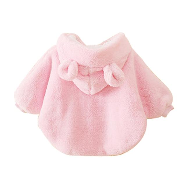 Зима Детские Верхняя Одежда и Пальто 0-2Y Baby Girl Одежда Теплый Флис Плащ Малышей Девушка Clothing Мыса Верхняя Одежда Пальто, детская Одежда
