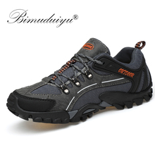 Купить с кэшбэком BIMUDUIYU 2019 Outdoor Men Shoes Comfortable Casual Shoes Men  Breathable Flats Moccasins Shoes Lace-Up Spring Rubber Sneakers