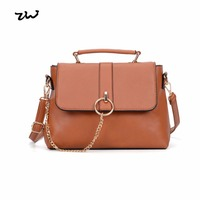 Chains Stylish Candy Colorful Soft Leather Shoulder Bag For Women