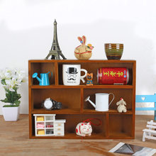 Vintage Solid Wooden Shelf Wall Wood Hanging Storage Rack Sundry Goods/ Toys Wooden Box Sorting Racks Storage Organizer Holders(China)