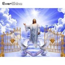 Evershine, алмазная вышивка, религиозная искусство, Иисус, полная квадратная Алмазная мозаика, Набор для вышивки крестиком, домашний подарок, ра...