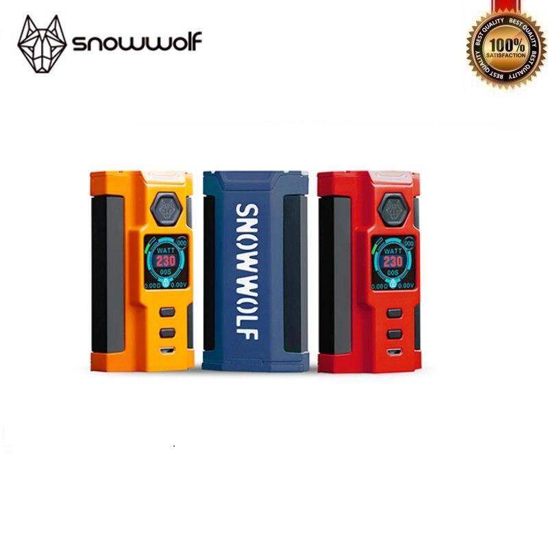 100% Original Sigelei Snowwolf VFeng-S 230W Mod Snow Wolf vfeng s Vape TC 18650 Box Mod Fit Electronic Cigarette Mods Vs Vgod цена