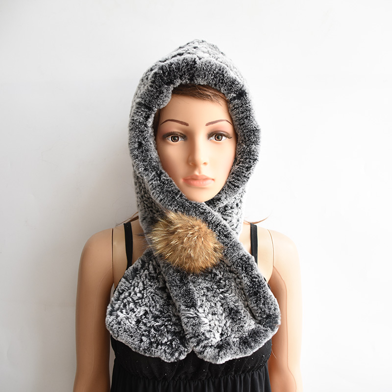 Grey Winter Beanie Baby Sweater Fox Ktfgs Girls Boys Wool Warm Scarf Hood Holds Hats Apparel Accessories